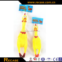 Latex rubber chicken toy for pets christmas decoration