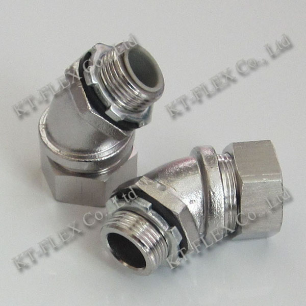 45 degree stainless steel electrical conduit elbow connector