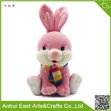 WHOLESALE STUFFED PLUSH SIT RABBIT WITH SCARF FOR DECORATION AND GIRL