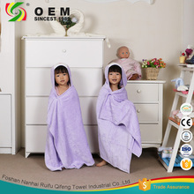 Wholesale quick dry fabric microfiber children bathrobe