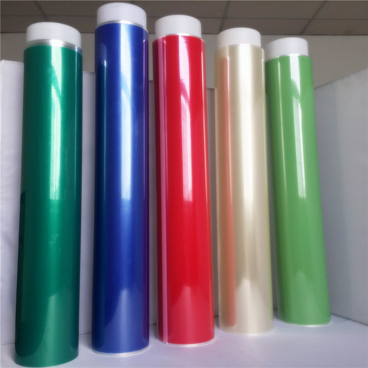 Color PET silicone adhesive single-side tape