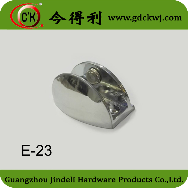Furniture Zinc Alloy Glass Holder Clip For 12mm Glass Panel