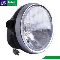 Plastic/Glass 12V 35W Motorcycle Round Headlight for Motorcycle YBR125