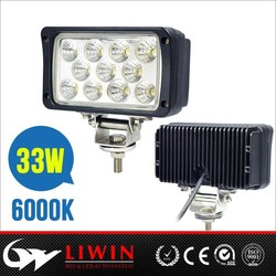 atv led work light 10-30v 33w 2640lm 6 inch led work light car lighting mini snowmobile