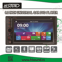 High quality 6.2'' HD touch screen autoradio 2 din dvd gps with bluetooth/1080p