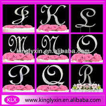 12/7CM Rhinestone Cake Topper ,Monogram Wedding cake toppers,Pin Cake Topper for Wedding Favor