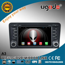 ugode U9 2din Android 4.4 hot Car DVD Radio GPS for A3 Media player WIFI 3G