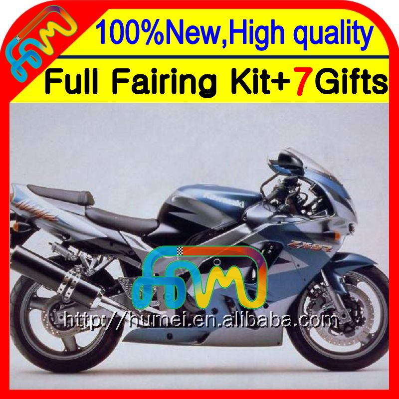 Body Grey blue For KAWASAKI NINJA ZX-9R 94-97 94 95 96 97 CL30 ZX 9R 9 R ZX9R Silvery grey 1994 1995 1996 1997 Fairing Kit