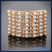China supplier hand made jewellery wholesale gold plated wedding decoration ladies rings with pearl