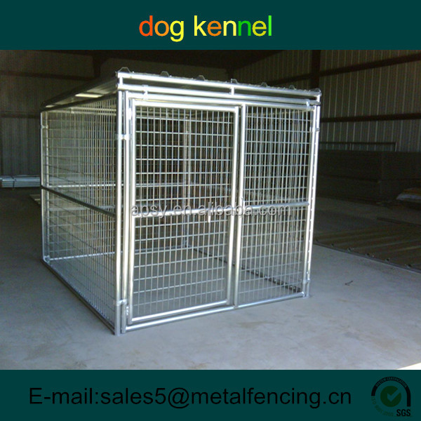 5'x9'x6' one kennel weld large outdoor dog cage with shade roof