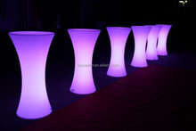 110cm height glowing illuminated rechargeable led bar table