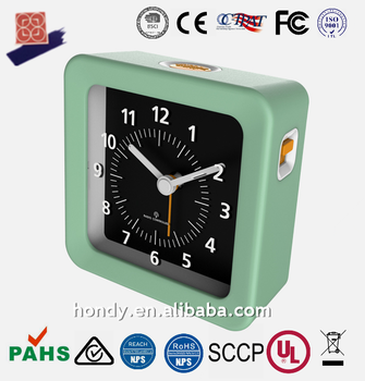 High Quality Small Square DCF MSF JJY40/60 WWVB Radio Controlled Table Alarm Clock