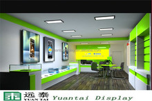 Fresh style mobile phone shop decoration furniture store
