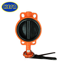 KEFA pneumatic concentric style wafer butterfly valve with handles