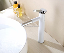 Latest style durable white color brass wash hand wash faucets basin waterfall mixers taps