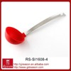 Silicone with stanless steel handle kitchen utensils ladel