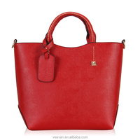 2014 Fashion New European Women Bucket Bag, Designer handbag PU Bucket Bags