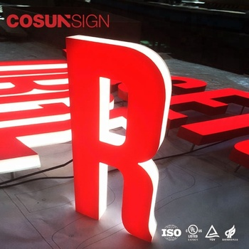 China hot sale outdoor build up 3d led mini acrylic channel letters signage