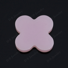 Pink Milky Cubic Zirconia Loose Gemstone Four Leaf Clover Jewelry