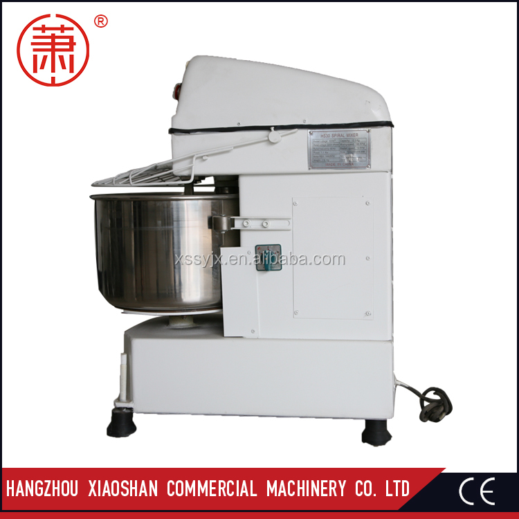 Auto Tipping Electric Bakery Spiral Dough Mixer/Industrial Bakery Equipment