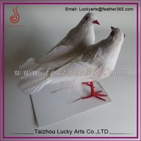 wholesale mini wedding crafts artifical feather dove birds