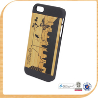 High Quality Dark Walnut Natual Bamboo Hard Real Wood Phone Case for Samsung Galaxy S4 and for iphone
