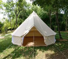 Waterproof Cotton Canvas Family Camping Bell Tent Indian Tent