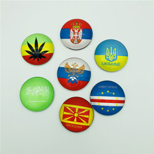 Wholesale glass country souvenir fridge magnets for different countries