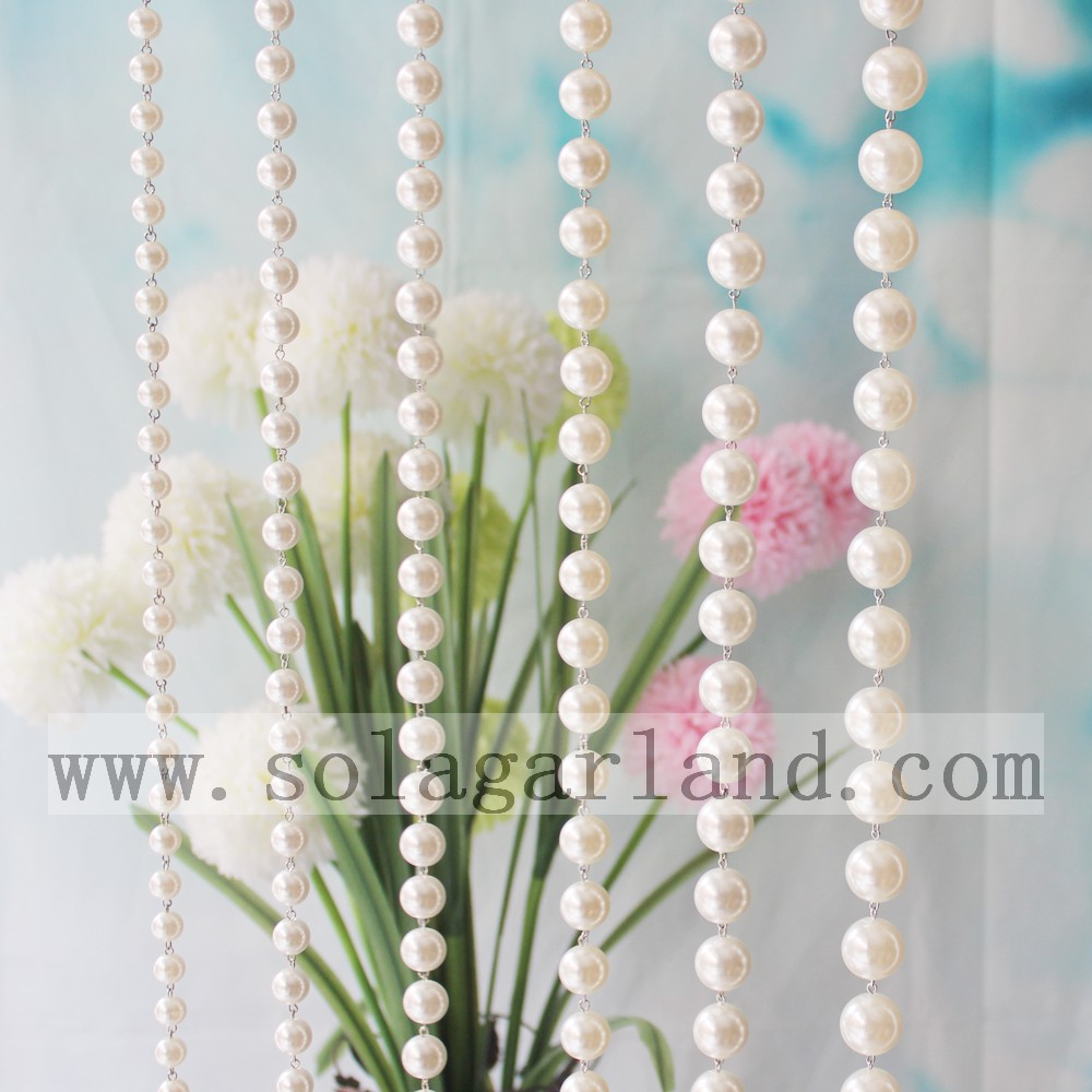Factory Wholesale Hanging Acrylic Imitation Pearls Beaded String Door Curtains For Decoration