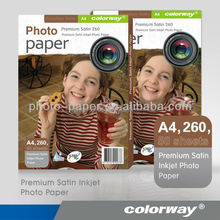 a4 size Premium Wove Glossy lucky inkjet Photo paper 260g (RC-base)
