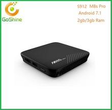 2017 New Design Mini M8s Pro 3g Ddr4 Android 7.1 Amlogic S912 Octa Core 4k codi 17.1 Fully Load Android Tv Box