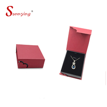 Leather Hinged Jewelry Gift Paper Packaging Box For Jewelry