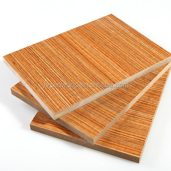 16mm melamine faced MDF sheet 16mm raw MDF