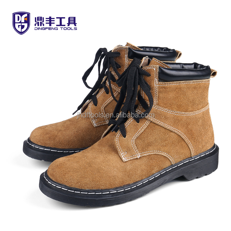 cheap cow split leather industrial safety boots