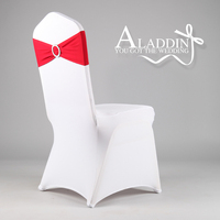 spandex lycra chair bands elastic chair sash with buckle for wedding many colors