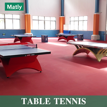 Table Tennis Court PVC Vinyl Sports Flooring