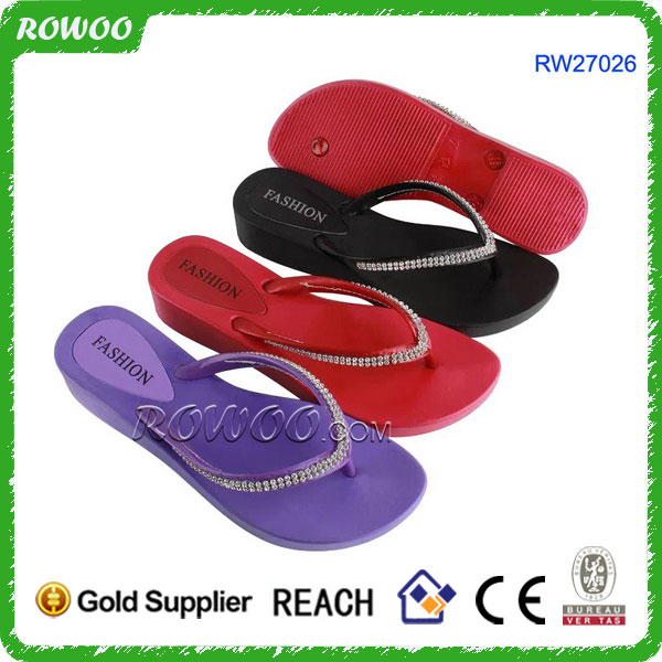 Air-blowing PVC shoes for women, aerosoft chaussure,china PCU shoes slippers with crystal diamonds