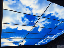 big blue sky ceiling led panel light