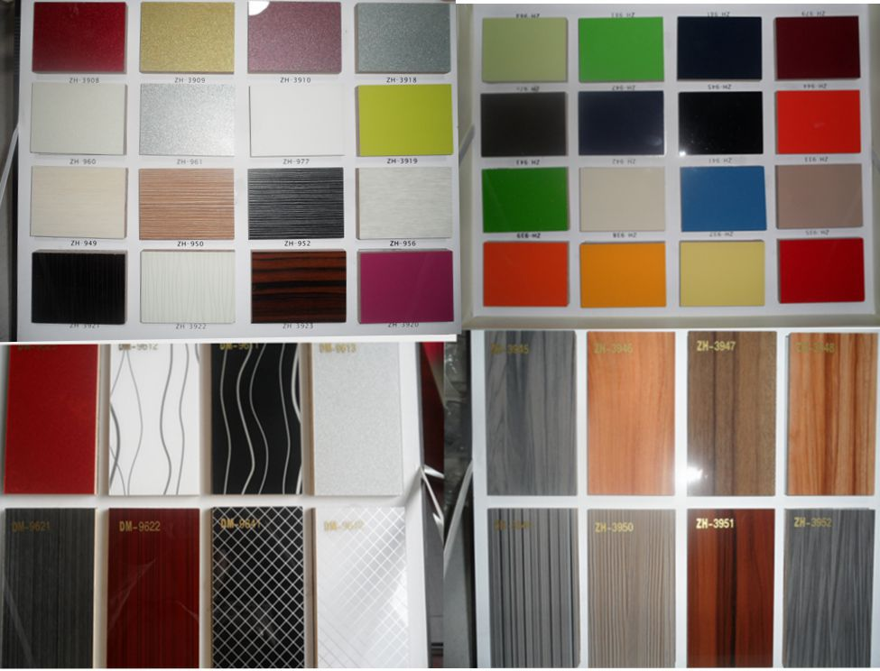 High Gloss Vinyl Wrap Doors Kitchen Cabinets Lacquer Wood