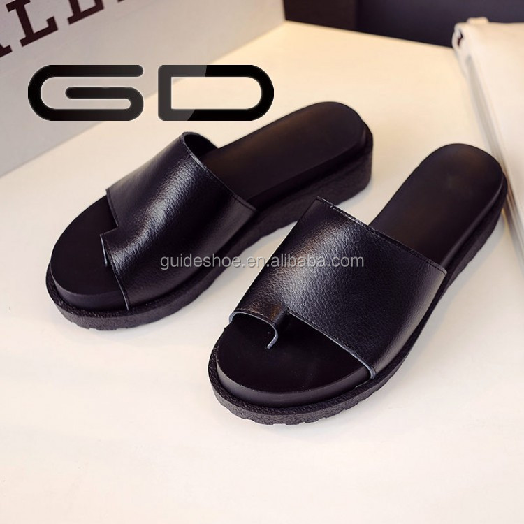 Newly fashion Korean summer beach slippers Leisure black flat sandals summer for women