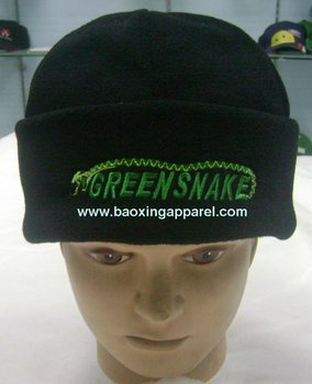 customized design polar fleece hat beanie