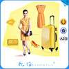 4 wheels abs travel luggage bags, trolley suitcase luggage set