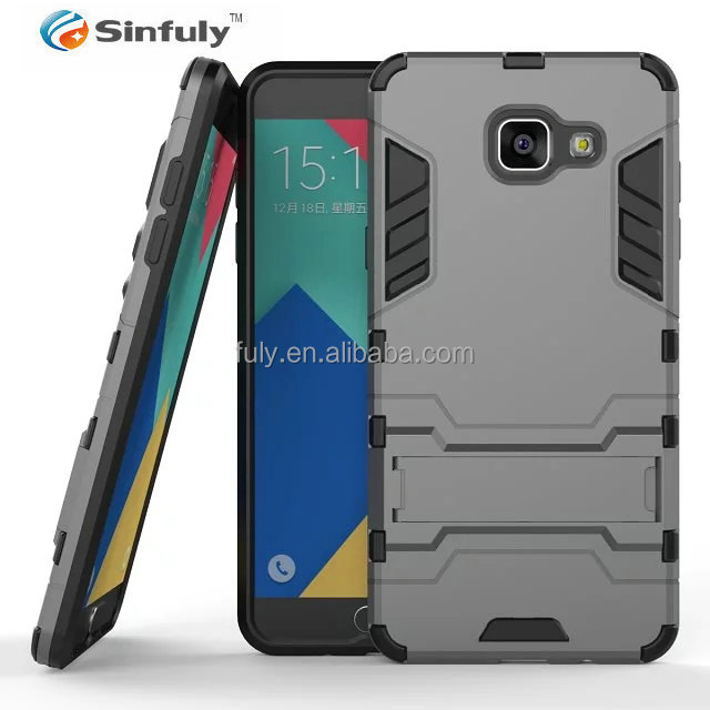 Back Cover Case for Samsung Galaxy A5 A7 2016 A510 A510F A710 TPU PC Hybrid Robot /Armor Shockproof Holster Stand Phone Cover