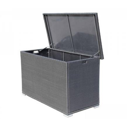 Outdoor Furniture Waterproof Outdoor Wicker Outdoor Cushion Storage Box - Black