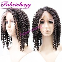 Best selling products0 kinky curly u part wig for black women, 100% virgin hair front lace wig, hot sale african braided wig