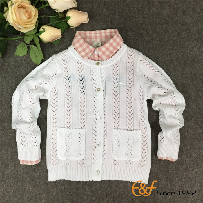 Knitted Baby Girls Cardigan Sweater Wholesale Children's Boutique Clothing