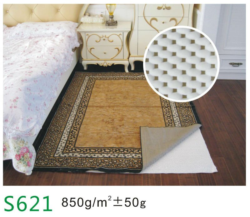 pvc foamed rug non slip mat eco-friendly rug pads