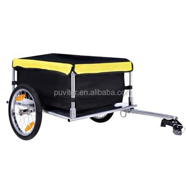 New Foldable Cargo Bike Trailer Bicycle Stroller Jogger Yellow Black