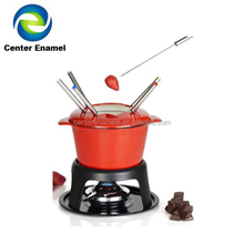 Hot Sale Cast Iron Fondue Set