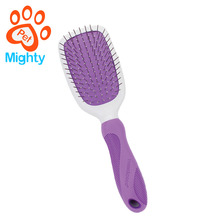 Pet Deshedding Double-sided Hair Comb with Silica Gel Handle